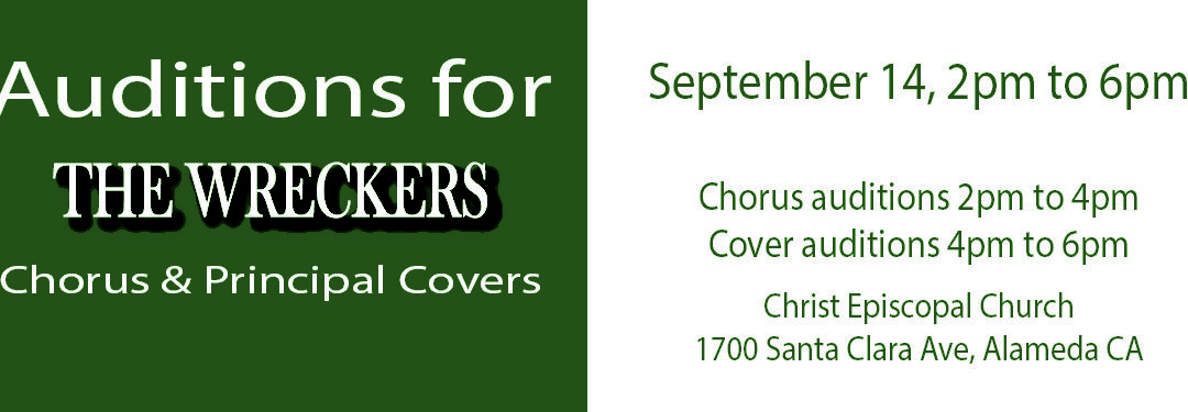 Audition for The Wreckers Chorus & Covers